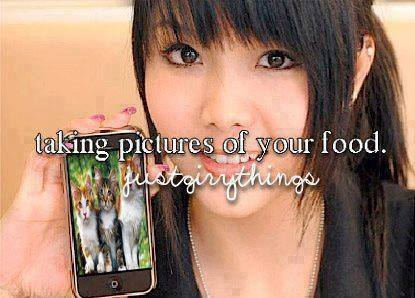 Taking pictures of your food