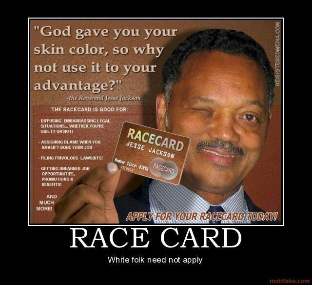 play the race card