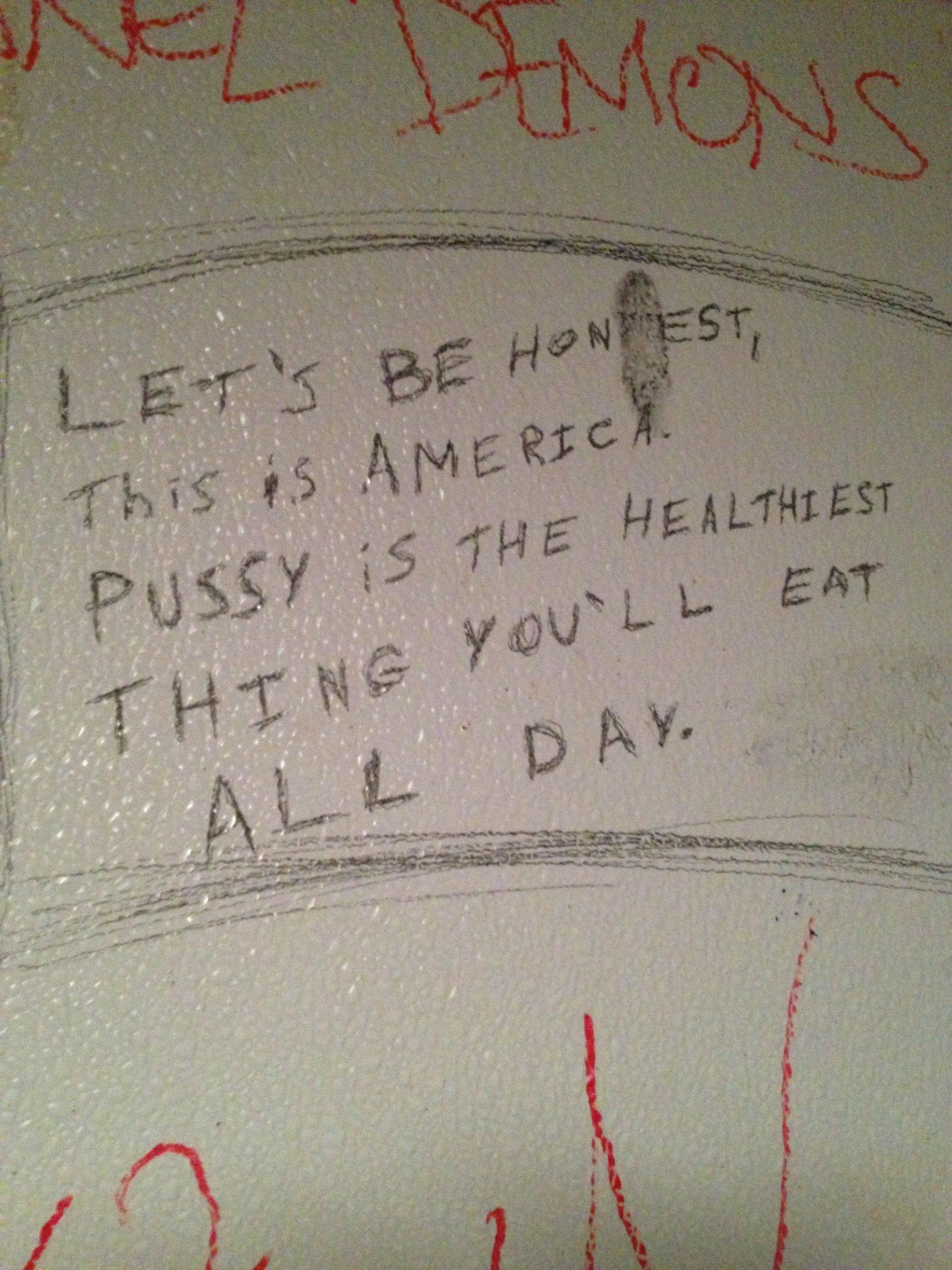 bathroom grafitti truth