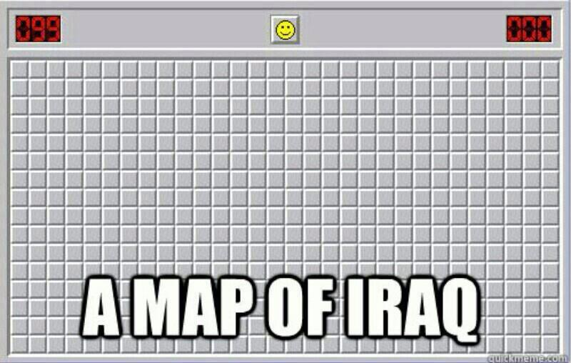 Aerial map of iraq