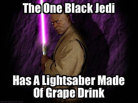 Grape soda lightsaber