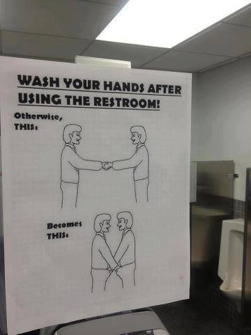 Best hand wash sign ever