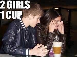 Selena and Bieber 1 cup