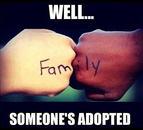 Someone's adopted