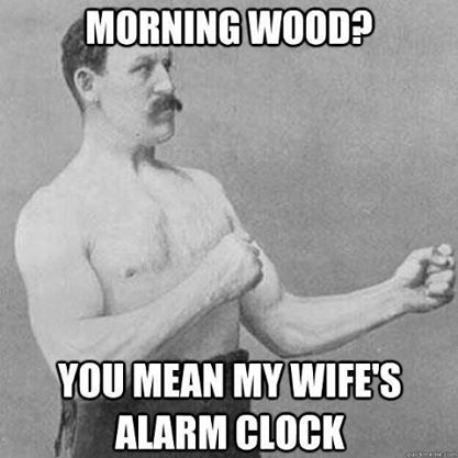 Wife's alarm clock