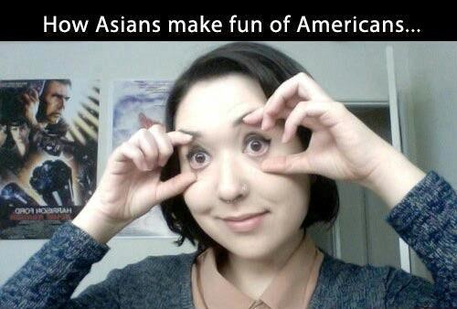 How Asians impersonate Americans