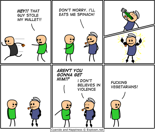 Cyanide and Happiness - Vegetarians