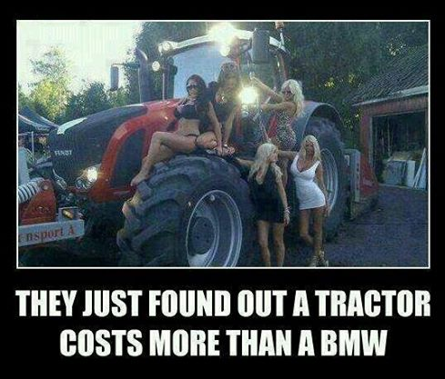 Tractors cost more than BMWs