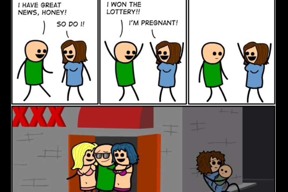 Cyanide and Happiness - Lottery Win