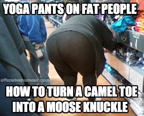 yoga pants on fat people
