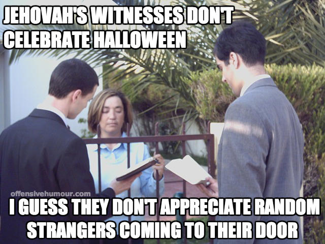 Jehovah's at halloween
