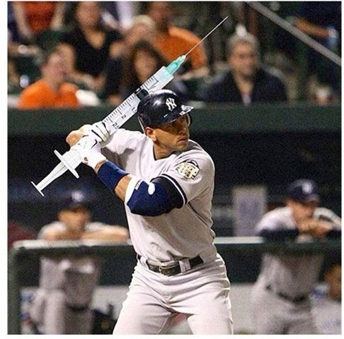 A-rod batting with a needle