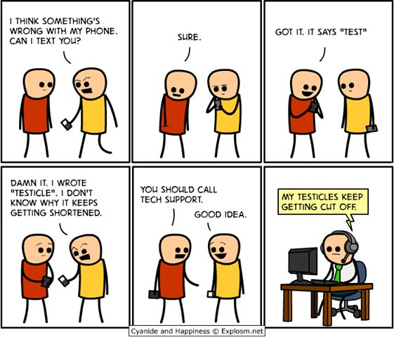 Cyanide and Happiness - Autocorrect