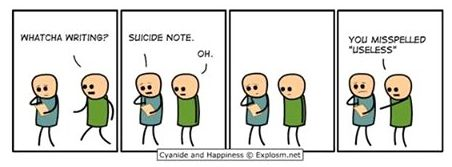 Cyanide and Happiness - Suicide Note