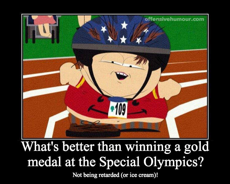 Gold at the special olympics