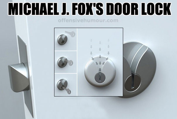 Michael J Fox door lock