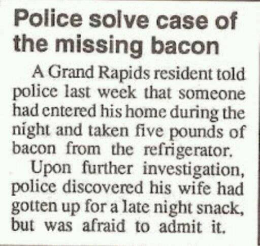 The missing bacon mystery