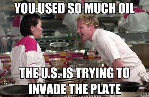 Ramsay says too much oil