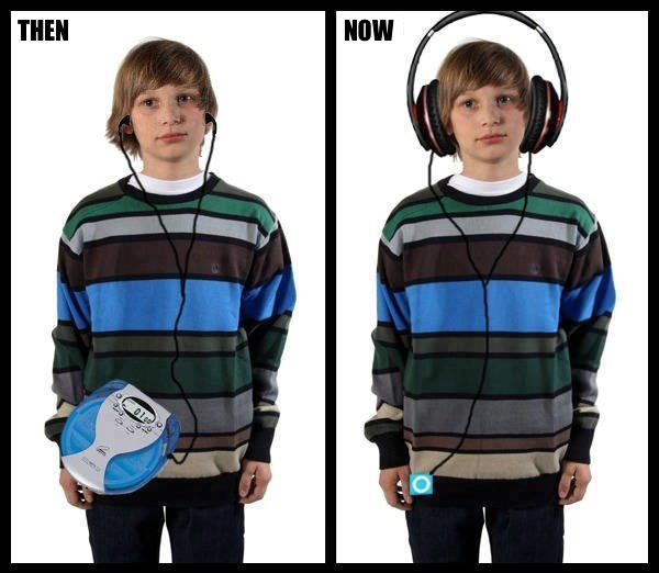 then and now music devices