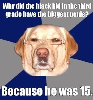 The biggest kid in third grade - black joke