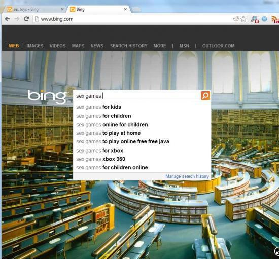 Bing is twisted sometimes too