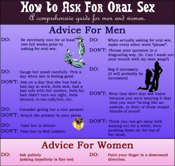 Advice for men asking for it