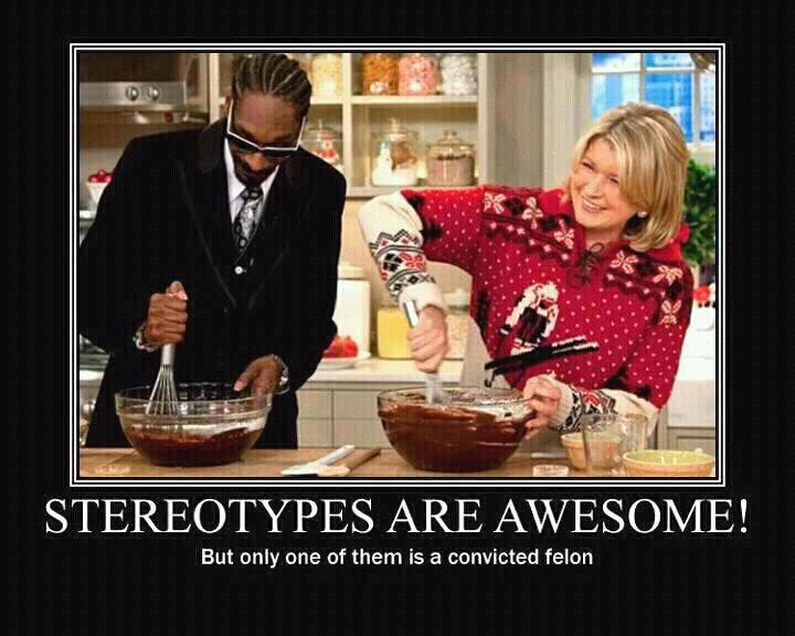 You have to love stereotypes