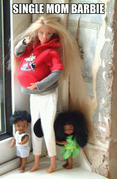 Single mom barbie
