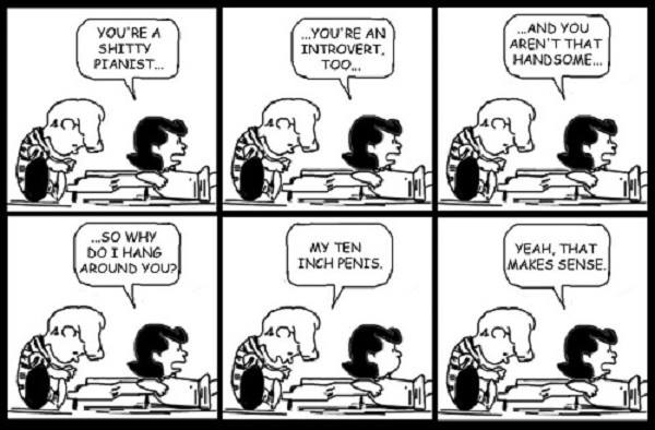 Why Lucy hangs around Peanuts humor
