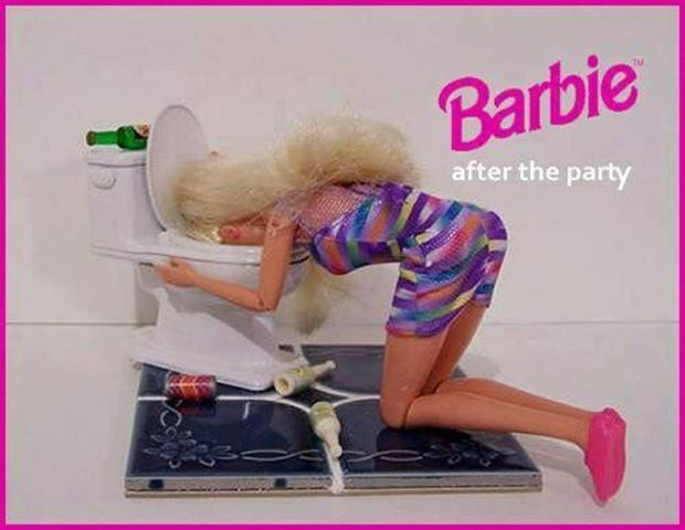 After party Barbie