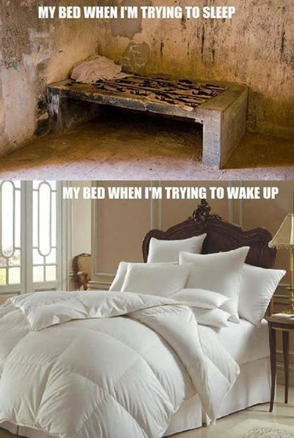 Bed - Night versus Morning