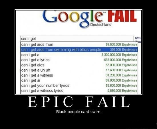Google search racist fail