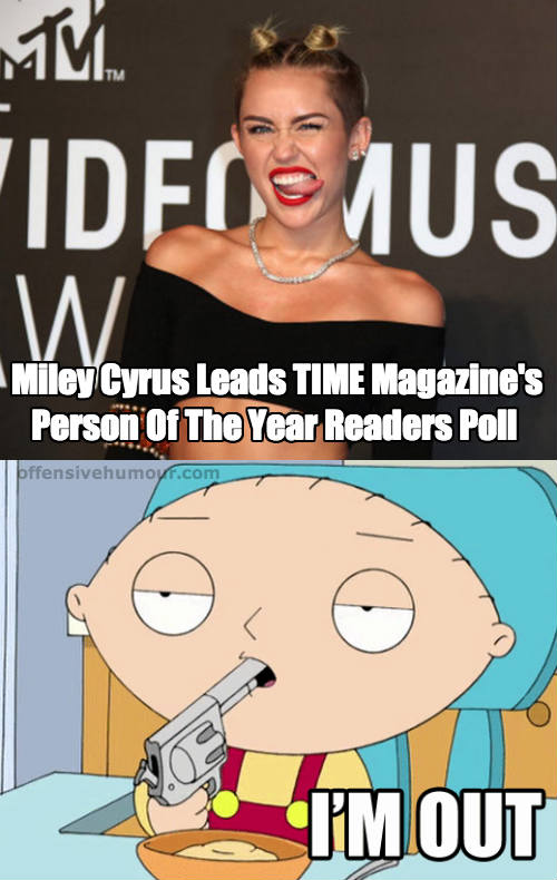 Miley Cyrus - Person of the year PLEASE GOD NO!