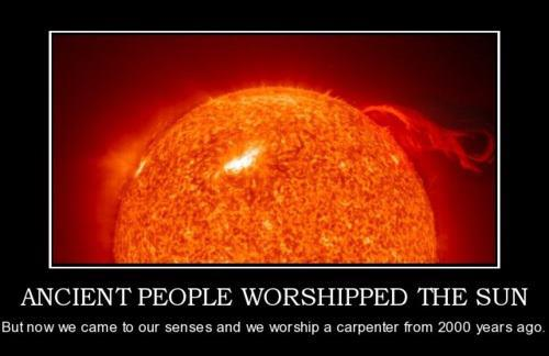 They use to worship the sun