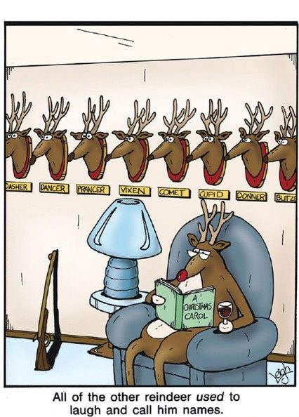 They should have let Rudolph play in the reindeer games