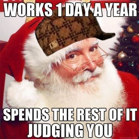 Santa likes to judge