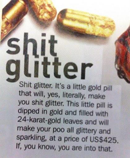 All that glitters is not...