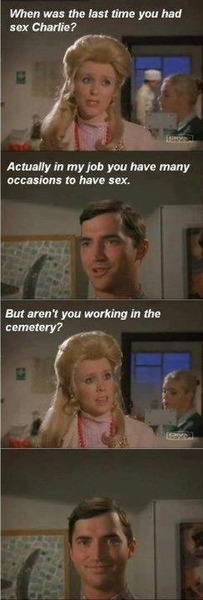 Working in the cemetary