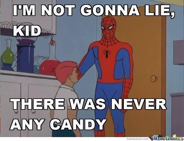 Never any candy
