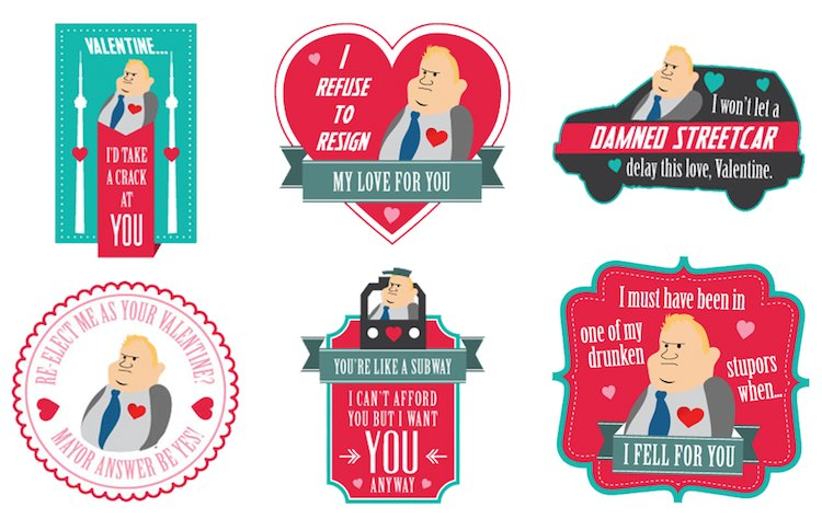 Rob Ford Valentine cards
