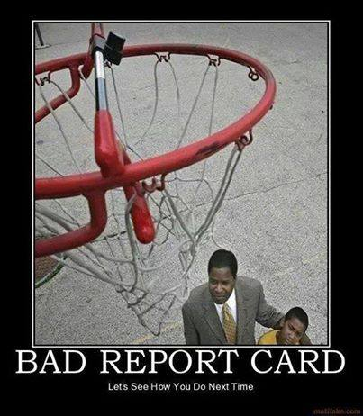 punishment for bad report card