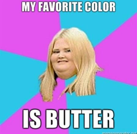 Colour of butter