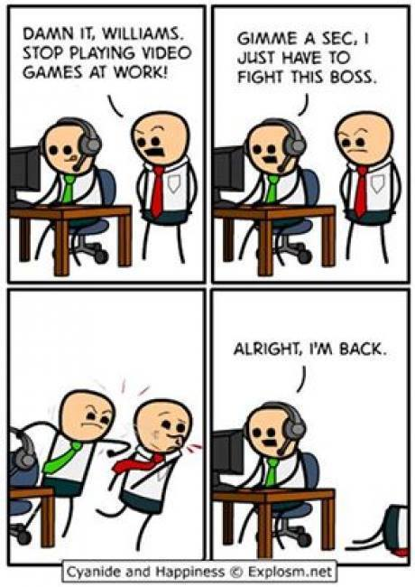 Cyanide and Happiness - Fight the boss