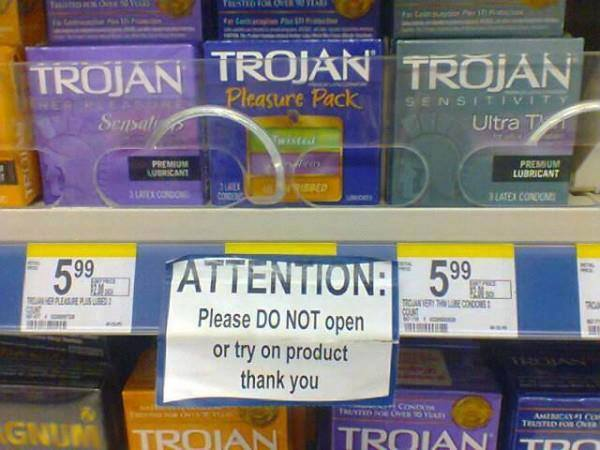 Do not try on product