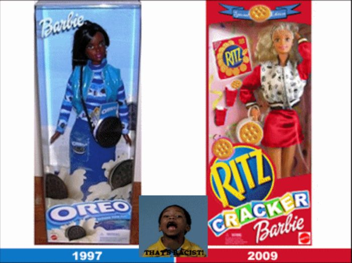 Oreo and cracker Barbie