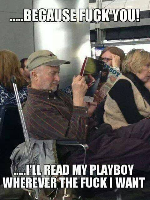 He reads it when and where he wants