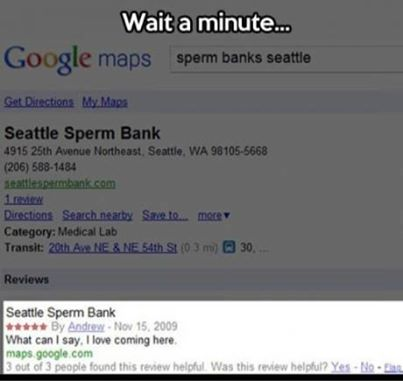 Seattle sperm bank google review