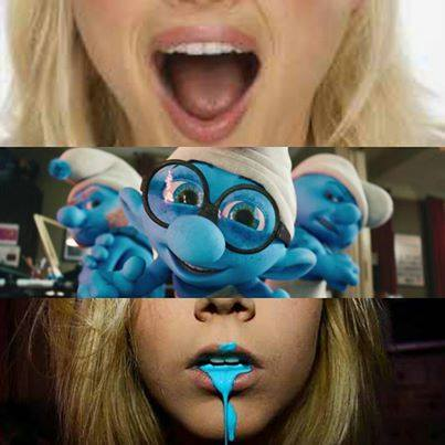 They Smurf'ed her