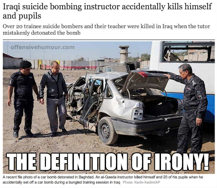 The definition of irony