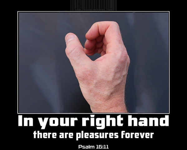 In your right hand...